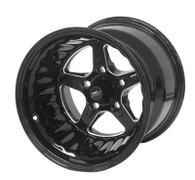 STREET PRO II GM 5x120.6 - 15x12  / 5.0' Back Space Black Wheel