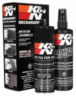 K&N Air Filter Recharge Cleaning kit - 8 oz. Oil & 12 oz. Filter Cleaner