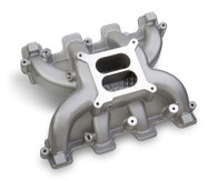 PROFLOW GM LS Dual Plane Intake Manifold - LS1/2 Cathedral Port SILVER