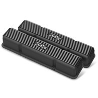 HOLLEY Chevrolet Small-Block Finned Valve Covers Black Finish