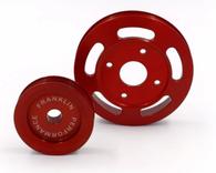 FRANKLIN ENG. Billet Underdrive Pulley Set for Nissan RB Engines - RED