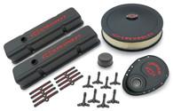 PROFORM Chevrolet Small-Block Wrinkle Finish Engine Dress-Up kit - Black/Red