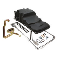 RTS GM LS Alloy High Volume Rear Oil Pan - With Pickup & Adaptor suit Conversion - BLACK