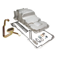RTS GM LS Alloy High Volume Rear Oil Pan - With Pickup & Adaptor suit Conversion - SILVER