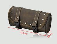 TLG Vintage Style Leather Fork Bag Chopper/Bobber/Harley ect - BROWN