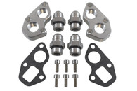 ICT GM LT Remote Water Pump Mounting Plates Kit w/ -12AN Fittings