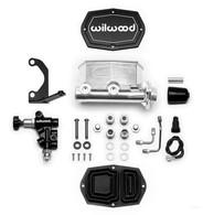 "WILWOOD Tandem Compact Master Cylinder Kit - 1.00"" Bore POLISHED"