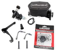 "WILWOOD Mustang Tandem Compact Master Cylinder Kit - 1.00"" Bore BLACK"