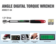 """ACDelco Tools Digital Torque Wrench - 5-99.5 ft.-lbs Range , 1/2"""" Drive"""
