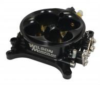 WILSON MANIFOLDS Billet 4bbl Throttle Body - Cable 4150 - 1287CFM