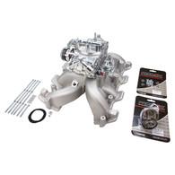 PROFLOW GM LS1/2 Cathedral Port Intake Manifold & Carburettor KIT - Dual Plane
