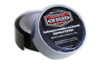 CAR BUILDERS Black Aluminium Foil Tape
