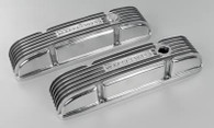 OFFENHAUSER Cast Aluminum Valve Covers Chevrolet Small Block V8 POLISHED