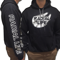 RADIAL LIFE Signature Car Hoodie Black