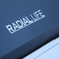 RADIAL LIFE Sticker 15CM White