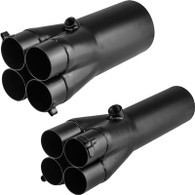 "PROFLOW Mild Steel Exhaust Slip-On Collector 1-3/4"" Primary to 3"""