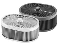 "PROFLOW Oval Flow Top Air Cleaner 4"" STAINLESS"