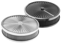 "PROFLOW Round Flow Top Air Cleaner 14x4"" STAINLESS"