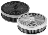 "PROFLOW Round Flow Top Air Cleaner 9x2"" STAINLESS"