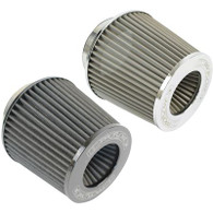 "PROFLOW 2.5"" Inlet Pod Filter 130mm High STAINLESS"
