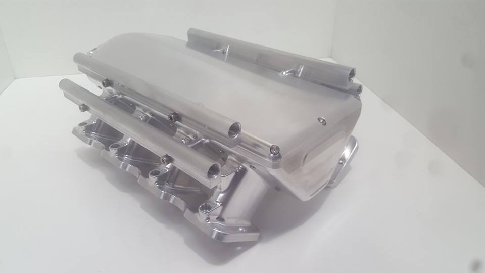 CPC Billet GM LS7 and LSX Intake Manifold - Raised Rectangle Port 16  INJECTOR