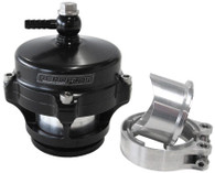 AEROFLOW 50mm Blow Off Valve with Weld-on Flange & V-Band - Black