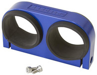 AEROFLOW Dual Billet Fuel Pump Bracket - Blue