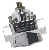 AEROFLOW Billet 2-Port Fuel Pressure Regulator with -8 ORB Ports - CARB 4.5-9psi POLISHED