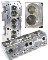 AEROFLOW Aluminium Cylinder Heads, 200cc Runner with 64cc Chamber BARE - Suit S/B Chev