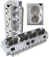 AEROFLOW Aluminium Cylinder Heads, 210cc Runner with 84cc Chamber COMPLETE - Suit B/B Chrysler