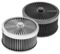 """PROFLOW Round Flow Top Air Cleaner 9x5"""" STAINLESS - Suit 7-5/16"""" Dominator"""