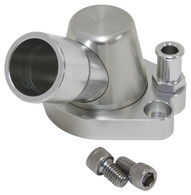 AEROFLOW Billet Swivel Thermostat Housing - Suit Holden V8 - Silver