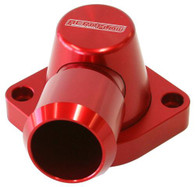 AEROFLOW Billet Swivel Thermostat Housing - Suit GM LS1/2 - Red