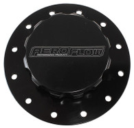 AEROFLOW Screw-On Billet Fuel Cell Cap Assembly - BLACK