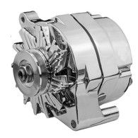 PROFLOW Ford style Chrome 140A Alternator 1 Wire / Internal Regulator