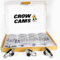 """CROW CAMS Stainless Roller Rockers 3/8"""" + Studs 1.5:1 Chevrolet SB V8"""
