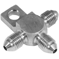 PROFLOW Male AN Tee w/Mount Tab Stainless Steel