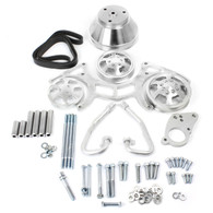 TLG Chevrolet Small-Block Billet Serpentine Pulley Kit - Basic