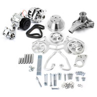 TLG Chevrolet Small-Block Billet Serpentine Pulley Kit - Complete