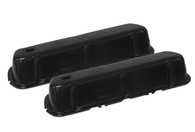 PROFLOW Stamped Steel Black Ford Windsor Valve Covers - W/Hole