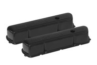 PROFLOW Stamped Steel Black Holden 253/308 Valve Covers - W/Hole