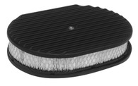 "PROFLOW 12x2"" Oval Air Cleaner - Black Finned"