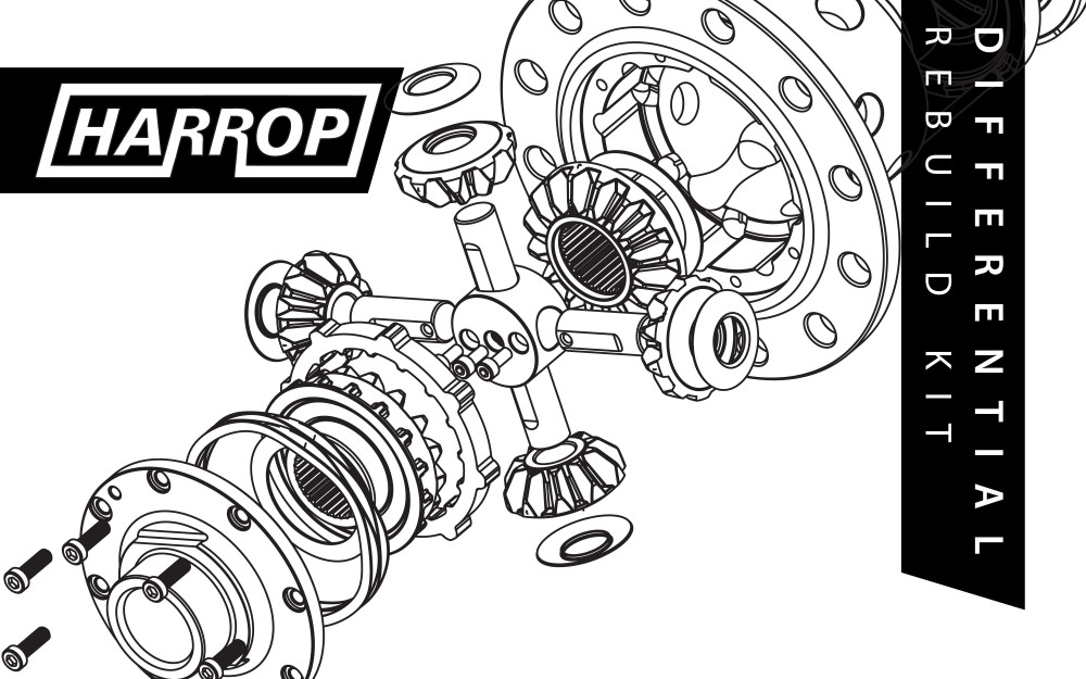 HARROP Differential Rebuild Kit - Toyota Prado/FJ Cruiser FRONT