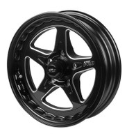 STREET PRO II GM 5x120.65 - 15x6  / 3.50' Back Space Black Wheel