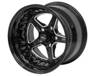 STREET PRO II GM 5x120.65 - 15x8.5  / 5.00' Back Space Black Wheel