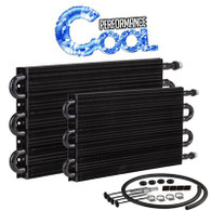 "Performance Tube and Fin Transmission Cooler Kit - 7.5"" x 12 3/4"" AN6"