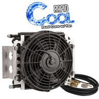 "Dual Core Transmission Cooler Kit 11"" x 11 3/8"" AN6 with 10"" Fan"