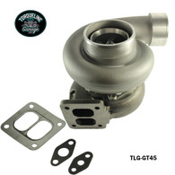TLG GT45 Turbocharger - .66AR Front, 1.05AR Rear EXTERNAL WASTEGATE