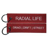 RADIAL LIFE Jet Tag Key Chain