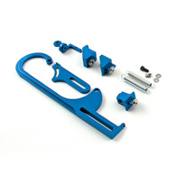 TLG Carb/TB Throttle Cable Bracket Kit - Blue w/ Return Springs and Mount